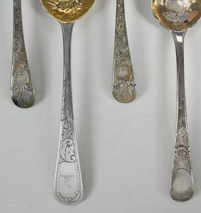 Seven English Silver Spoons
