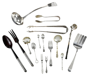 35 Silver Flatware Pieces