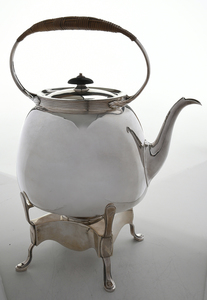 British Silver Hot Water Kettle
