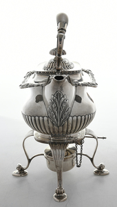 English Silver Hot Water Kettle