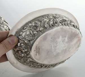 Baltimore Repousse Sterling Entree