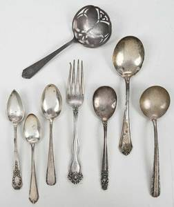 15 pieces various patterns flatware