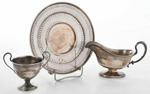 Three Pieces Sterling Table Items