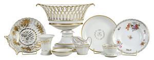 87 Pieces of Gilt Porcelain
