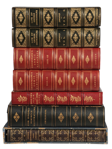 Seven Volumes of Cruikshank Fine Bindings