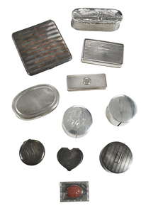Eleven Silver Boxes/Cases