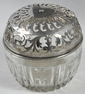 Eight Glass and Silver Table Items