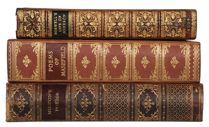 Three Literature Leather Bindings