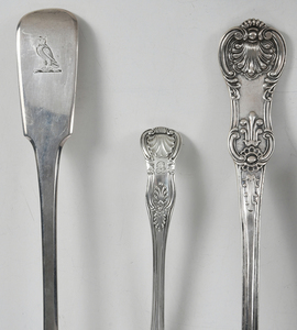 18 Pieces English Silver Flatware