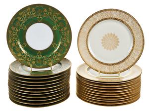 24 Gilt Decorated Service Plates