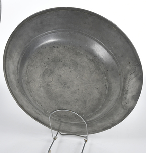 Pewter Charger Dated 1791