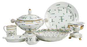 25 Piece Assembled Set Floral Sprig Porcelain
