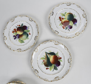 16 Hand Painted Fruit/Floral Decorated Plates