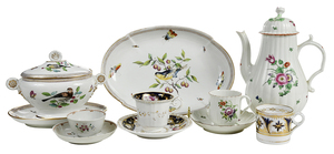 13 Pieces of Early Porcelain Tableware