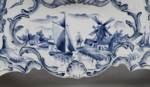 Three Pieces Blue and White Porcelain