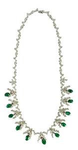 18kt. Emerald & Diamond Necklace