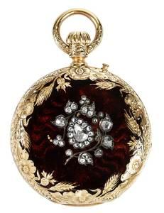 18kt. Diamond & Enamel Pocket Watch