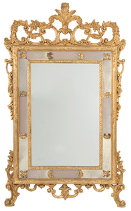 Venetian-style Gilt and Mirror-framed Mirror