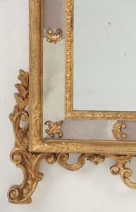 Venetian-style Gilt and Mirror-framed Mirror