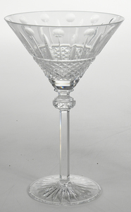 Ten Cut Glass Martini Stems