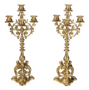 Pair Renaissance Style Four Light Candelabra