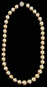 18kt. Pearl & Diamond Necklace