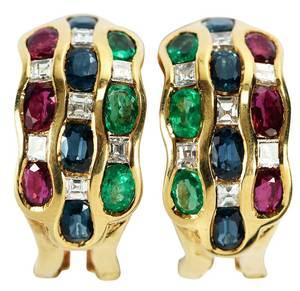 18kt. Gemstone Earrings