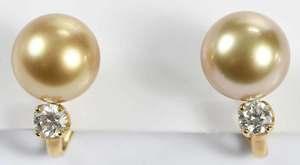 18kt. Pearl & Diamond Earrings