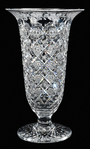 Sinclaire Brilliant Period Cut Glass Vase
