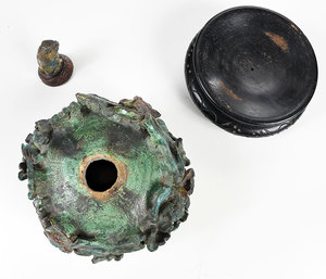 Sancai Glazed Chinese Phoenix Vessel