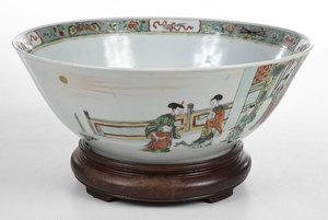 Famille Verte Punch Bowl