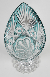 J. Hoare Brilliant Period Cut Glass Vase