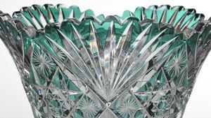 Hawkes Brilliant Period Cut Glass Vase