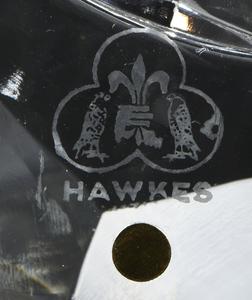 Hawkes Brilliant Period Cut Glass Plate