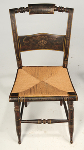 Three American Classical Fancy Painted Side Chairs