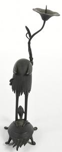 Japanese Figure Crane on Tortoise