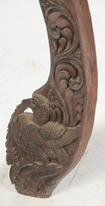 Indian Carved Hardwood Circular Low Table