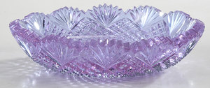 Brilliant Period Cut Glass Low Bowl