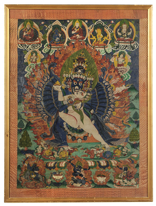Tibetan Thanka of Tantric Ritual