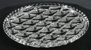 Hawkes Brilliant Period Cut Glass Tray
