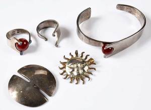 Five Pieces Silver Jewelry
