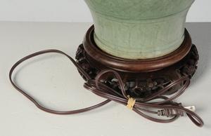 Korean Celadon Vase Converted to Lamp