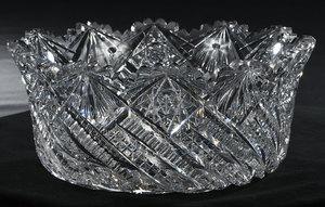 J. Hoare Brilliant Period Cut Glass Bowl