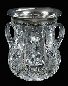 Brilliant Period Cut Glass Loving Cup