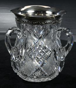 Brilliant Period Cut Glass Loving Cup
