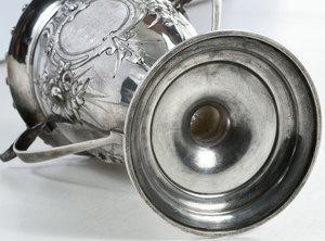 American Coin Silver Vase