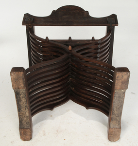 Italian Carved Walnut Savonarola Chair