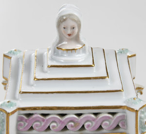 Seven Decorated Porcelain and Enamel Items