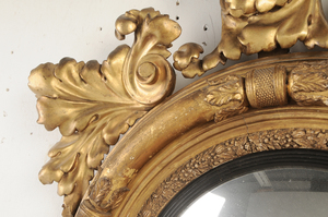 Large Classical Gilt Wood Girandole Mirror