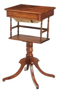 Federal Mahogany Sewing Stand